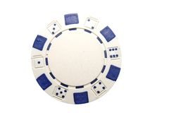 Microplaqueta do póquer Imagens de Stock Royalty Free