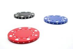 Microplaqueta do póquer Fotografia de Stock