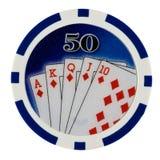 Microplaqueta do póquer do casino Imagem de Stock Royalty Free