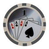 Microplaqueta do póquer do casino Fotos de Stock Royalty Free