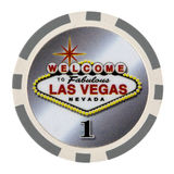 Microplaqueta do póquer do casino Imagens de Stock