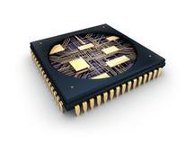 Microplaqueta do processador central Comuter ilustração stock