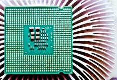 Microplaqueta do processador central do computador (unidade central do processador) Imagens de Stock