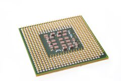 Microplaqueta do processador central do PC Foto de Stock Royalty Free