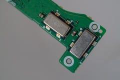 Microplaqueta do sensor do giroscópio do acelerômetro fotografia de stock royalty free