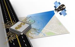 microplaqueta dos gps 3d Foto de Stock