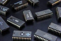 Microplaqueta eletrônica imagem de stock royalty free