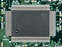 Microplaqueta eletrônica do computador fotografia de stock