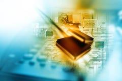 Microplaqueta eletrônica do circuito integrado imagens de stock royalty free