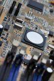 Microplaqueta eletrônica do computador Foto de Stock
