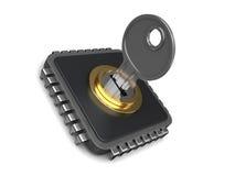 Microplaqueta fechado ilustração do vetor