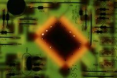 Microplaqueta na placa de circuito Imagem de Stock Royalty Free