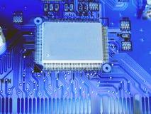Microplaqueta na placa do USB 2 Fotos de Stock