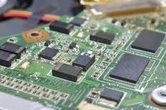 Microplaqueta no cartão-matriz fotos de stock