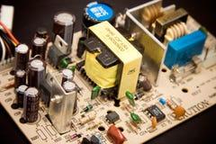 Microplaqueta no fundo preto Imagens de Stock