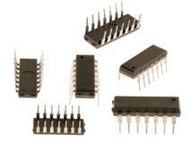 Microplaqueta velha ajustada do silicone Fotos de Stock Royalty Free
