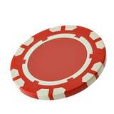 Microplaqueta vermelha do casino imagem de stock