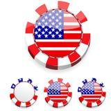 Microplaquetas abstratas do casino de América Fotos de Stock Royalty Free