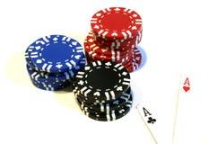 Microplaquetas & ás Foto de Stock Royalty Free