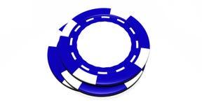 Microplaquetas azuis do casino Foto de Stock Royalty Free