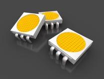 Microplaquetas claras conduzidas da lâmpada Foto de Stock Royalty Free