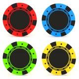 Microplaquetas coloridas simples do casino ilustração royalty free