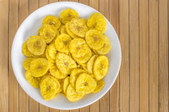 Microplaquetas da banana Fotografia de Stock