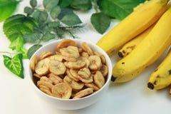 Microplaquetas da banana Imagem de Stock Royalty Free