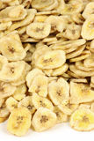 Microplaquetas da banana isoladas Imagem de Stock