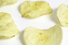 Microplaquetas de batata Fotografia de Stock