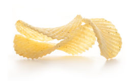 Microplaquetas de batata foto de stock
