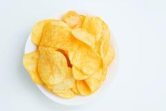 Microplaquetas de batata. Foto de Stock