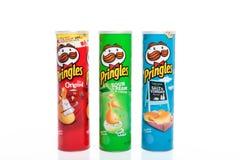 Microplaquetas de batata de Pringles Fotografia de Stock Royalty Free