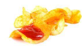 Microplaquetas de batata fritadas Imagem de Stock