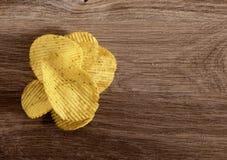 Microplaquetas de batata onduladas Fotografia de Stock