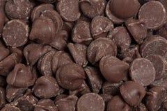 Microplaquetas de chocolate imagem de stock