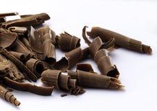 Microplaquetas de chocolate foto de stock