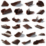 Microplaquetas de chocolate Imagem de Stock Royalty Free