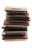 Microplaquetas de computadores isoladas Fotos de Stock Royalty Free