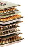 Microplaquetas de computadores isoladas Imagem de Stock Royalty Free