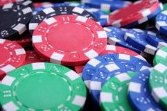 Microplaquetas de Gabling do póquer Foto de Stock