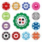 Microplaquetas de jogo Imagens de Stock