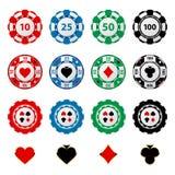 Microplaquetas de jogo Foto de Stock Royalty Free