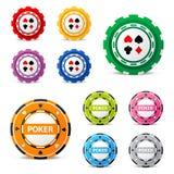 Microplaquetas de jogo Imagem de Stock Royalty Free