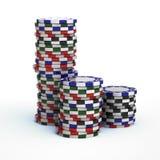 Microplaquetas de jogo do casino Fotos de Stock Royalty Free