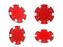 Microplaquetas de jogo no fundo verde Fotos de Stock Royalty Free