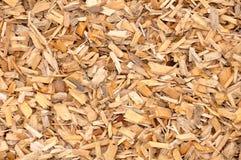 Microplaquetas de madeira Fotografia de Stock