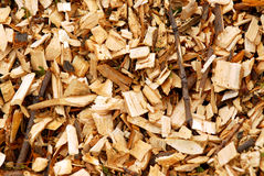 Microplaquetas de madeira imagens de stock royalty free