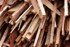 Microplaquetas de madeira Fotos de Stock