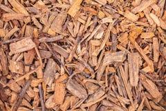 Microplaquetas de madeira para ajardinar do jardim Foto de Stock